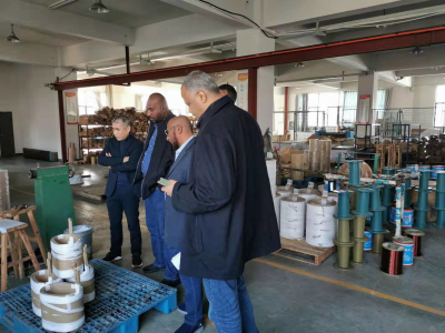 Sudan customers visit to factory to negotiate new project cooperation